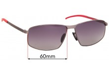 Porsche Design P 8652 Replacement Sunglass Lenses - 60mm Wide