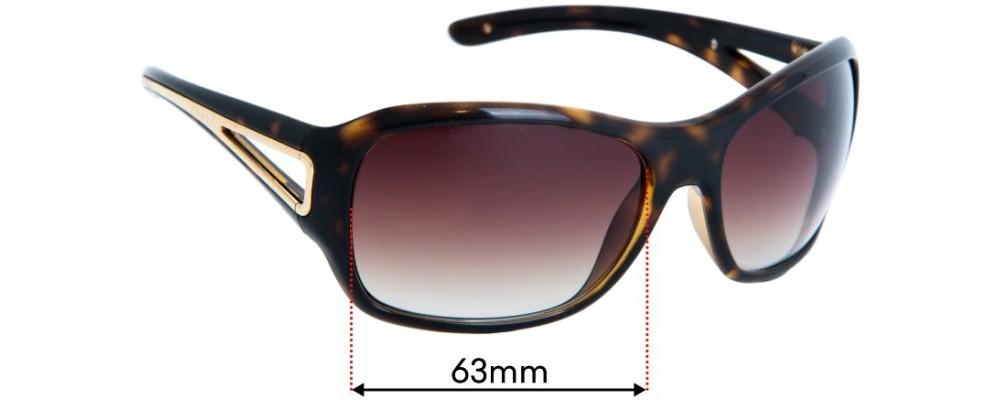 Prada SPR15L & PR15LS Sunglass Replacement Lenses - 63mm Wide