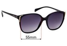 Prada SPR01O Replacement Sunglass Lenses - 55mm wide