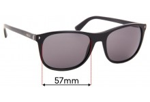 Sunglass Fix Replacement Lenses for Prada SPR 01R - 57mm Wide