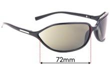 Sunglass Fix Replacement Lenses for Prada SPR 05E - 72mm Wide