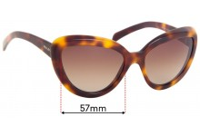 Prada SPR08R Replacement Sunglass Lenses - 57mm Wide