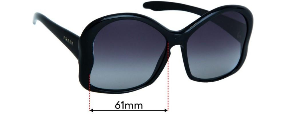 Prada SPR18I Replacement Sunglass Lenses - 61mm Wide