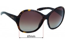 Sunglass Fix Replacement Lenses for Prada SPR20L  - 61mm wide