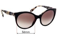 Sunglass Fix Replacement Lenses for Prada SPR23O - 56mm Wide
