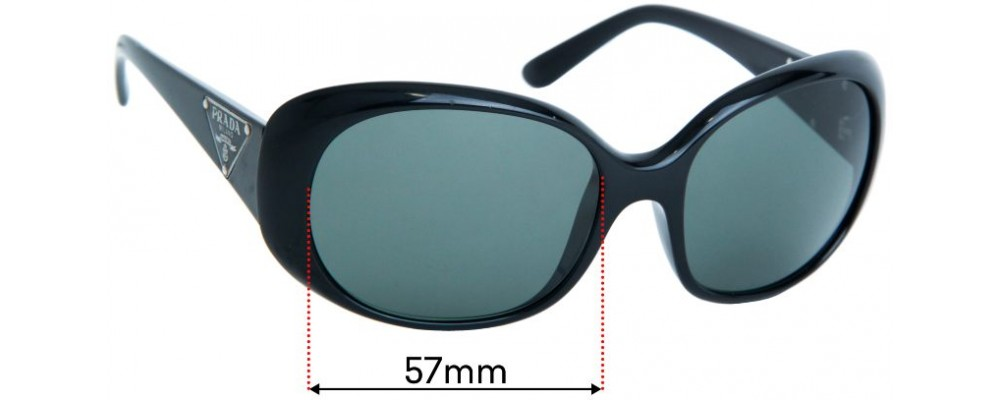 Prada SPR27L Replacement Sunglass Lenses - 57mm wide