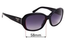 Prada SPR31N Replacement Sunglass Lenses - 58mm Wide