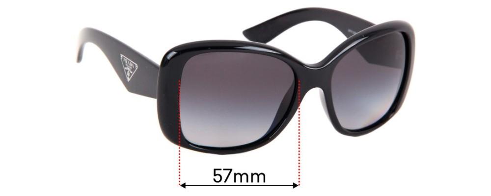 Prada SPR32P Replacement Sunglass Lenses - 57mm Wide