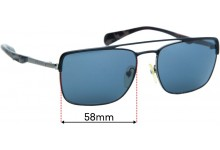 Sunglass Fix Replacement Lenses for Prada SPR50Q - 58mm wide