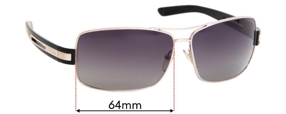 Prada SPR54I Replacement Sunglass Lenses - 64mm Wide