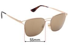 Sunglass Fix Replacement Lenses for Prada SPR54T - 55mm wide