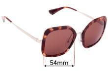 Sunglass Fix Replacement Lenses for Prada SPR 57U - 54mm Wide