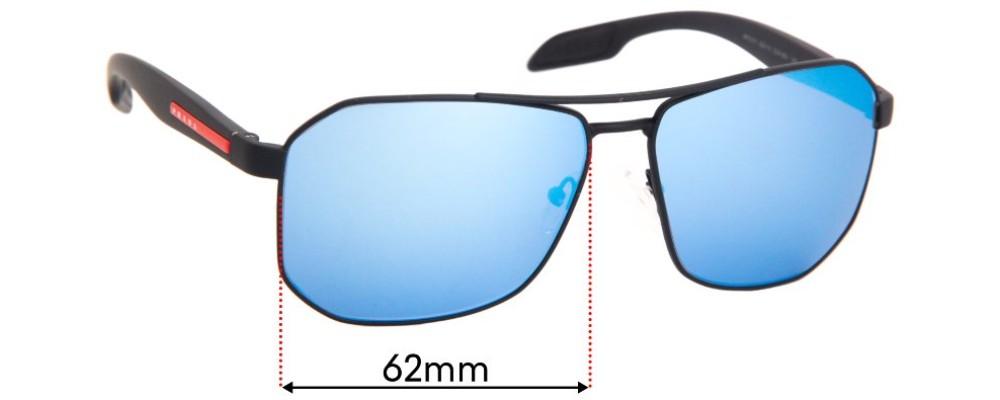 Prada SPS51V Replacement Sunglass Lenses - 62mm Wide