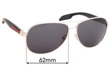 Prada SPS53P Replacement Sunglass Lenses - 62mm Wide