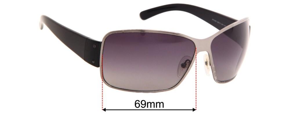 Prada SPS56G Replacement Sunglass Lenses - 69mm Wide
