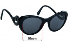 Sunglass Fix Replacement Lenses for Prada VPR06Q - 51mm wide