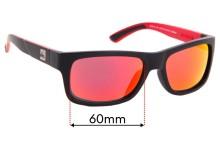 Quiksilver QS Tech Sun Rx 03 Replacement Sunglass Lenses - 60mm Wide
