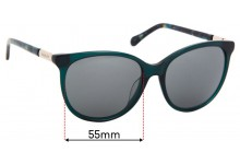 Radley Nicole Replacement Sunglass Lenses - 55mm Wide