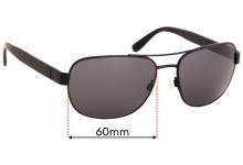 Ralph Lauren Polo PH 3101Replacement Sunglass Lenses - 60mm Wide