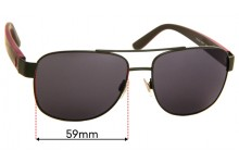 Sunglass Fix Replacement Lenses for Ralph Lauren Polo PH 3122 - 59mm wide