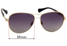 Ralph Lauren RA4117 Replacement Sunglass Lenses - 59mm wide