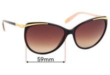 Ralph Lauren RA 5150 Replacement Sunglass Lenses - 59mm wide