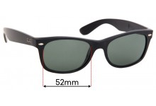 Sunglass Fix Replacement Lenses for Ray Ban RB2132-F New Wayfarer - 52mm wide