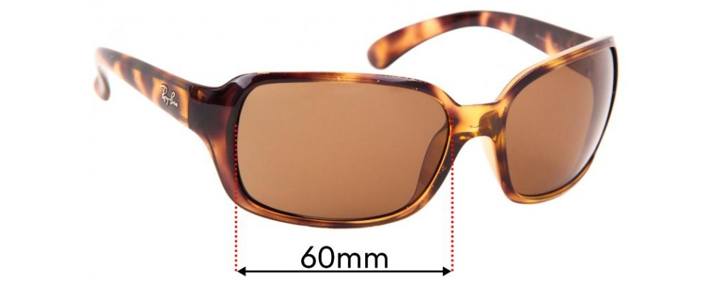 Ray Ban RAJ1554 RC007 Replacement Sunglass Lenses - 60mm wide