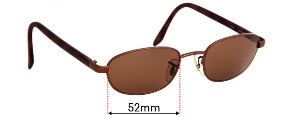 Sunglass Fix Replacement Lenses for Ray Ban RB3009 - 52mm wide