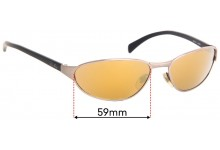 Sunglass Fix Replacement Lenses for Ray Ban RB3101 - 59mm wide