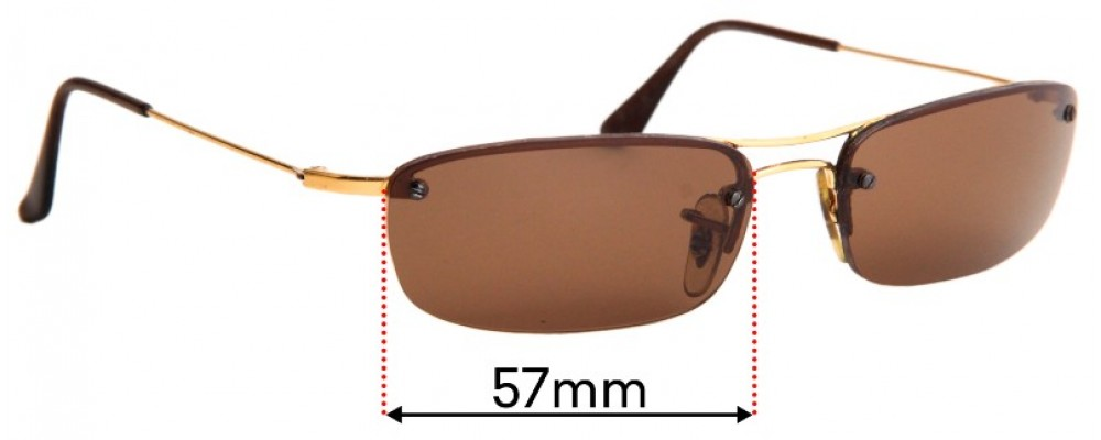 Sunglass Fix Replacement Lenses for Ray Ban RB3174 - 57mm Wide