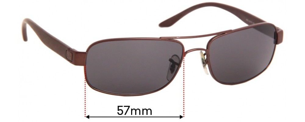 Ray Ban RB3273 Replacement Sunglass Lenses - 57mm Wide