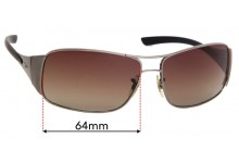 Ray Ban RB3320 Replacement Sunglass Lenses 64mm