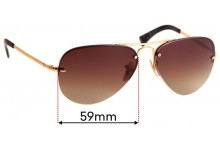 Ray Ban Aviators RB3449 Replacement Sunglass Lenses - 59mm across