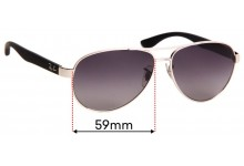 Ray Ban RB3457 Replacement Sunglass Lenses - 59mm wide
