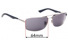 Sunglass Fix Replacement Lenses for Ray Ban RB3465 - 64mm Wide