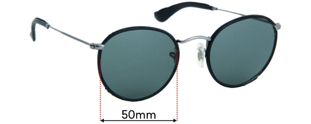Sunglass Fix Replacement Lenses for Ray Ban RB3475-Q - 50mm wide