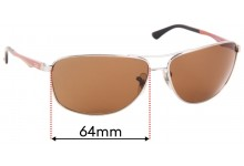 Ray Ban RB3506 Replacement Sunglass Lenses - 64mmWide