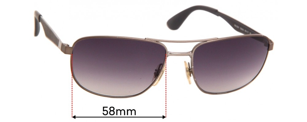 Ray Ban RB3528 Replacement Sunglass Lenses - 58mmwide