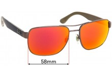 Sunglass Fix Replacement Lenses for Ray Ban RB3530 - 58mm wide