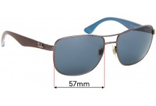 Sunglass Fix Replacement Lenses for Ray Ban RB3533 - 57mm wide