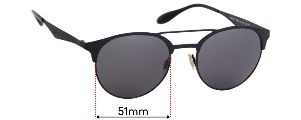 Ray Ban RB3545 Replacement Sunglass Lenses - 51mm Wide