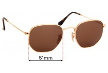 Ray Ban RB3548-N Replacement Sunglass Lenses - 51mm Wide