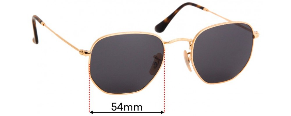 Ray Ban RB3548-N Replacement Sunglass Lenses - 54mm Wide