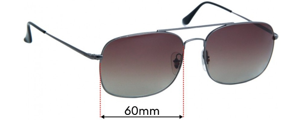 Sunglass Fix Replacement Lenses for Ray Ban RB3611  - 60mm wide