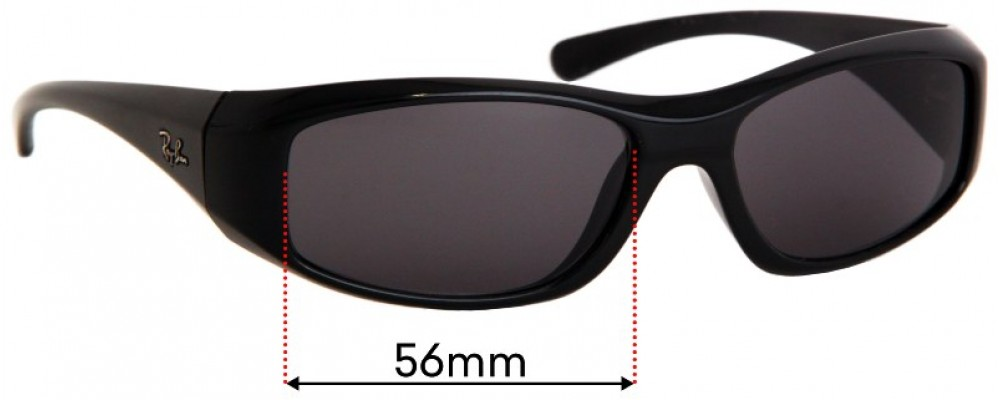 Sunglass Fix Replacement Lenses for Ray Ban RB4103 - 56mm wide