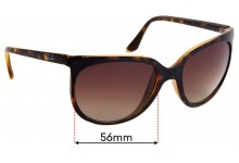 Sunglass Fix Replacement Lenses for Ray Ban RB4126 - 56mm