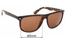 Ray Ban RB4147 Replacement Sunglass Lenses 60mm Wide Lenses