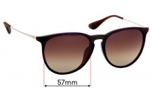 Ray Ban RB4171-F Erika Replacement Sunglass Lenses - 57mm Wide