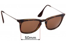 Sunglass Fix Replacement Lenses for Ray Ban RB4221 - 50mm wide